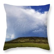 Dramatic Storm Over Table Rock Throw Pillow