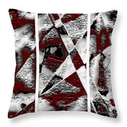 Dramatique Red Triptych Throw Pillow