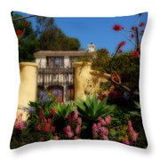Dream Cottage In Malibu Throw Pillow