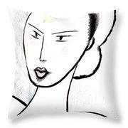 Dream Girl Throw Pillow by Al Goldfarb