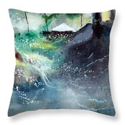 Dream House 2 Throw Pillow by Anil Nene