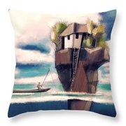 Dream Island Throw Pillow