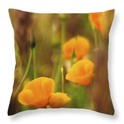 Dream Poppies Throw Pillow