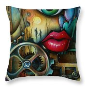 Dreamers 3 Throw Pillow by Michael Lang