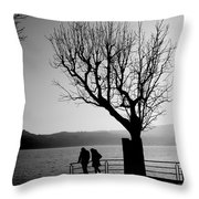 Dreaming In Front Of The Lake Throw Pillow