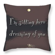 Dreaming Of You Greeting Card - Moon On Water Throw Pillow