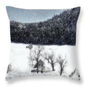 Dreams Of Snow  Throw Pillow