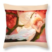 Dreams Of Strawberry Moon Throw Pillow