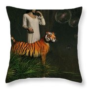 Dreams Of Tigers And Bubbles Throw Pillow