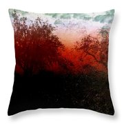 Dreamscape Sunset - Abstract Throw Pillow