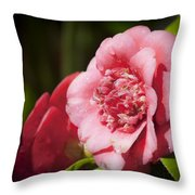 Dreamy Camellia Throw Pillow