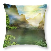 Dreamy Mood Throw Pillow