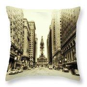 Dreamy Philadelphia Throw Pillow