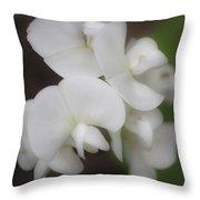 Dreamy White Sweet Pea Squared Throw Pillow