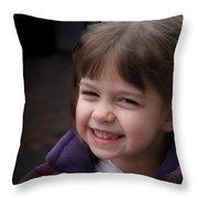 Drena Smiles Throw Pillow