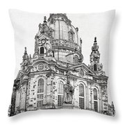 Dresden's Church Of Our Lady - Reminder Of Peace Throw Pillow