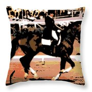 Dressage Competition Throw Pillow