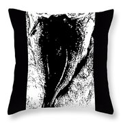 Dried Codfish Back B W Throw Pillow