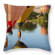 Drifting Along On The Yakima River Throw Pillow