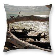Driftwood Jungle II Throw Pillow