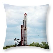 Drilling Rig Eagle Ford Shale Throw Pillow