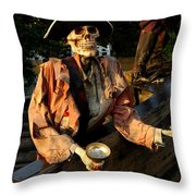 Drink To Death Throw Pillow