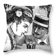 Drinking, 1875 Throw Pillow
