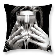 Drinks On Me Throw Pillow