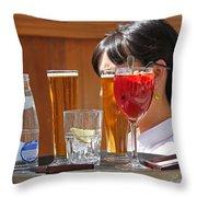 Drinks Sir Throw Pillow