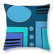 Drip Throw Pillow by Ely Arsha