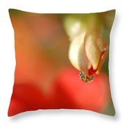 Dripping In Colors Throw Pillow