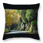 Drive In The Mountains Throw Pillow