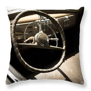 Driver's Seat Throw Pillow