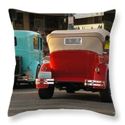 Driving Off Into History Throw Pillow