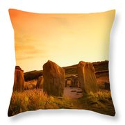 Drombeg Stone Circle, Near Glandore, Co Throw Pillow