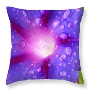 Droplets Glory Throw Pillow