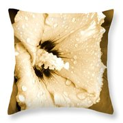 Droplets In Sepia Throw Pillow