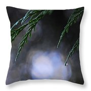 Drops In The Forest Throw Pillow