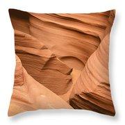 Drowning In The Sand - Antelope Canyon Az Throw Pillow