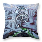 Drugs Mate Drugs Throw Pillow