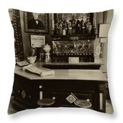 Drugstore Soda Fountain - New Orleans Throw Pillow