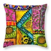 Drum Land Throw Pillow
