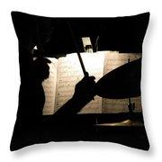 Drummer At A Gig Throw Pillow