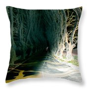 Drunken Night Drive Throw Pillow