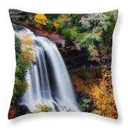 Dry Falls Or Upper Cullasaja Falls Throw Pillow