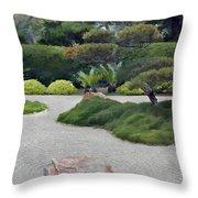 Dry Garden Sea Throw Pillow
