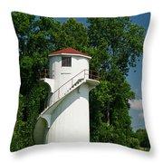 Dry Land Lighthouse 1 Throw Pillow