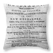 Du Monceau: Title Page Throw Pillow