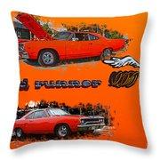 Dual Roadrunner Abstract Throw Pillow