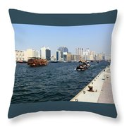 Dubai Pier Throw Pillow